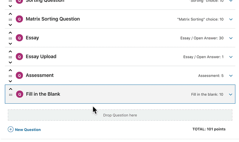 How to add new question in LearnDash quiz builder admin
