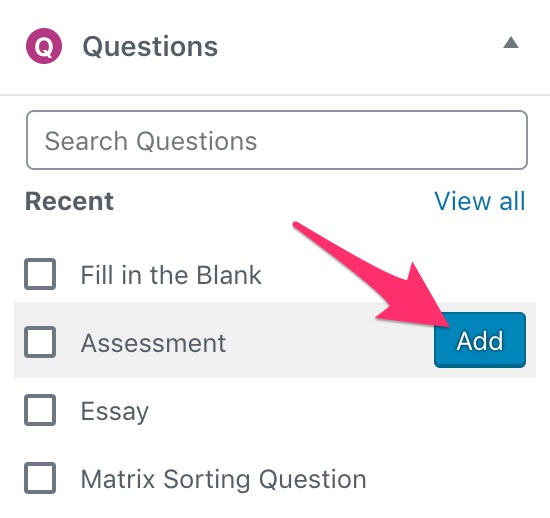 How to add a single question to a LearnDash quiz