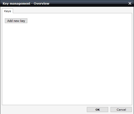 screenshot of add new key
