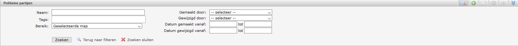 schermafdruk van de opties bij uitgebreid zoeken
