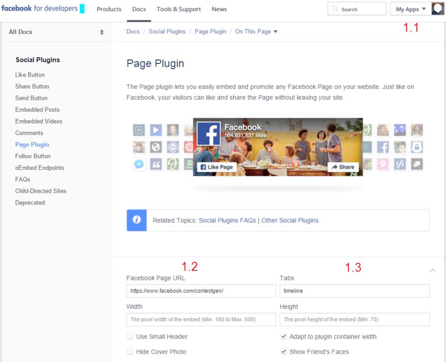 Изглед на панел Page Plugin