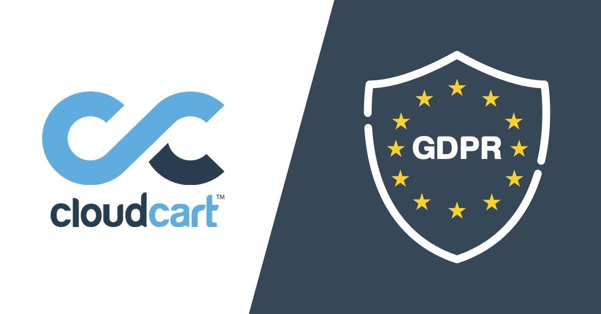 CloudCart и GDPR лого
