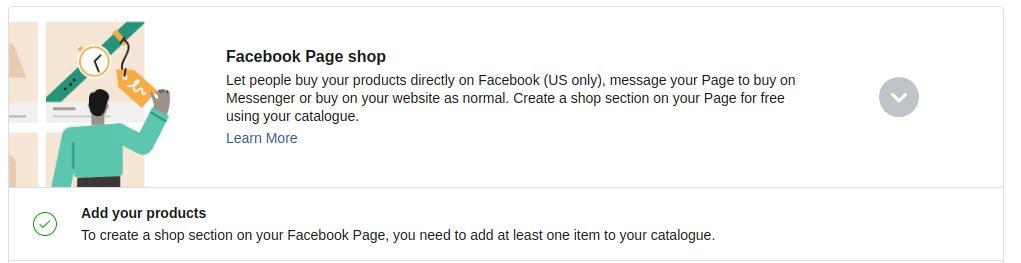 Избиране на секция Add your products
