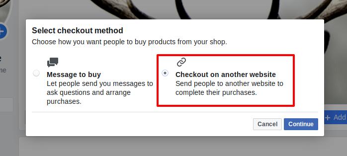 Избиране на опция Checkout on another website