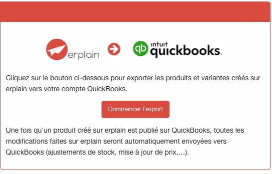 Exporter produit de erplain vers QuickBooks