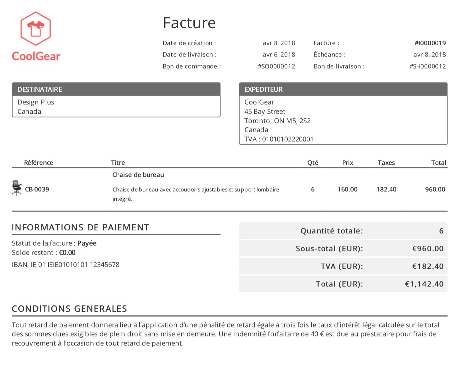 Facture PDF