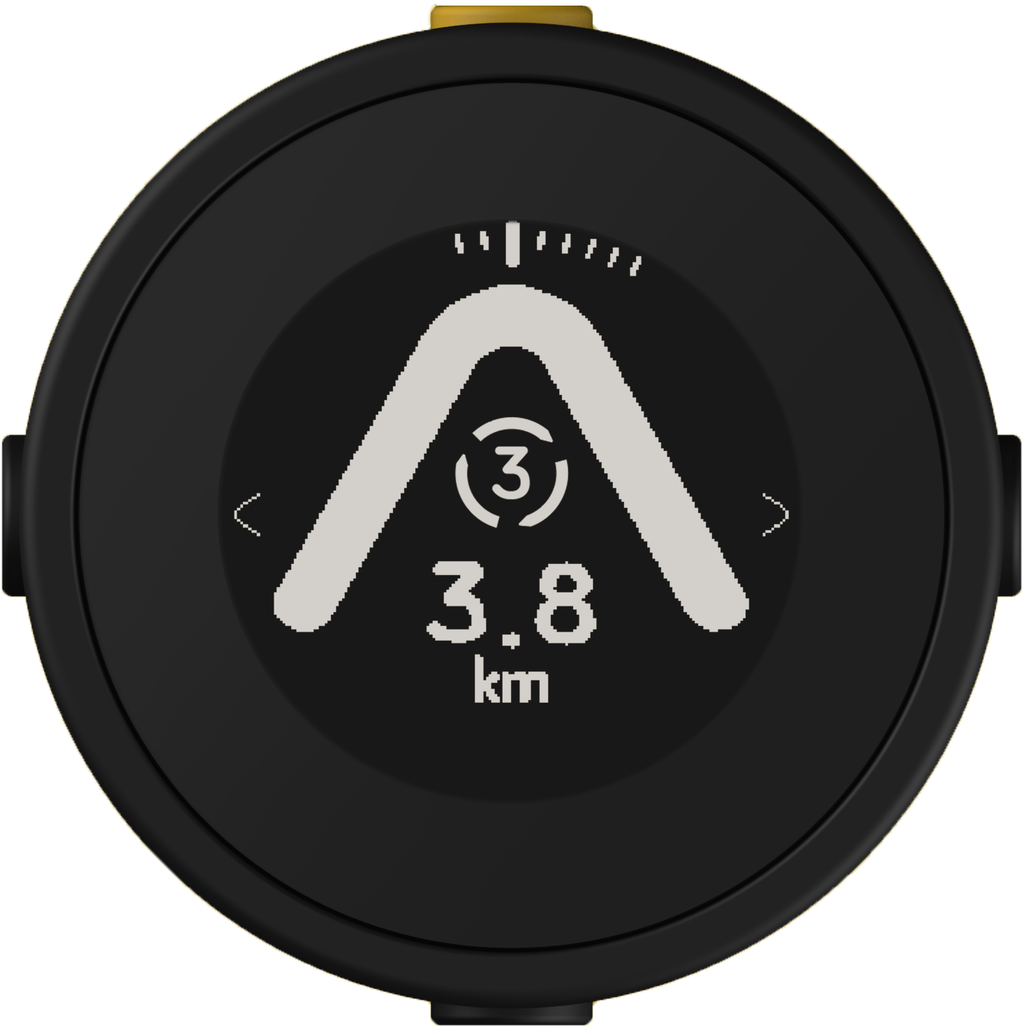 Beeline Moto with a roundabout indicator to take the 3rd exit