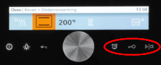 oven demostand draaiknop touchscreen