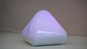 DiCE SMART emits a pink light trail to signal the problem