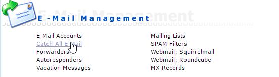 E-mail management binnen DirectAdmin, de Catch-all functie.