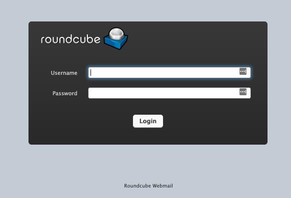 Inlogscherm Roundcube webmail op Plesk