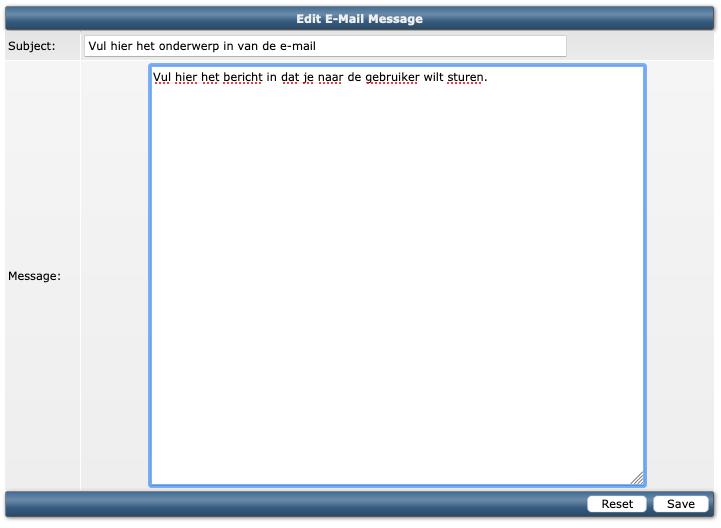 De User Message zoals deze aan te passen is binnen DirectAdmin.