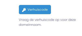 De knop om een verhuiscode op te vragen