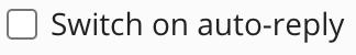Het menu onder een e-mail adres, waarna je rechts de knop Auto-Reply ziet