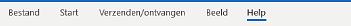 Hoofdmenu van Outlook in Windows met de optie Bestand.
