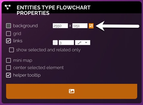 Pipeline flowchart settings include height and width for the background.