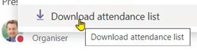 download attendance list