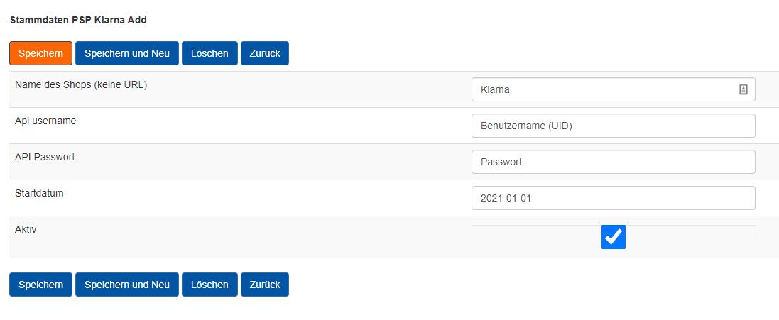 API Token bei AccountOne eintragen