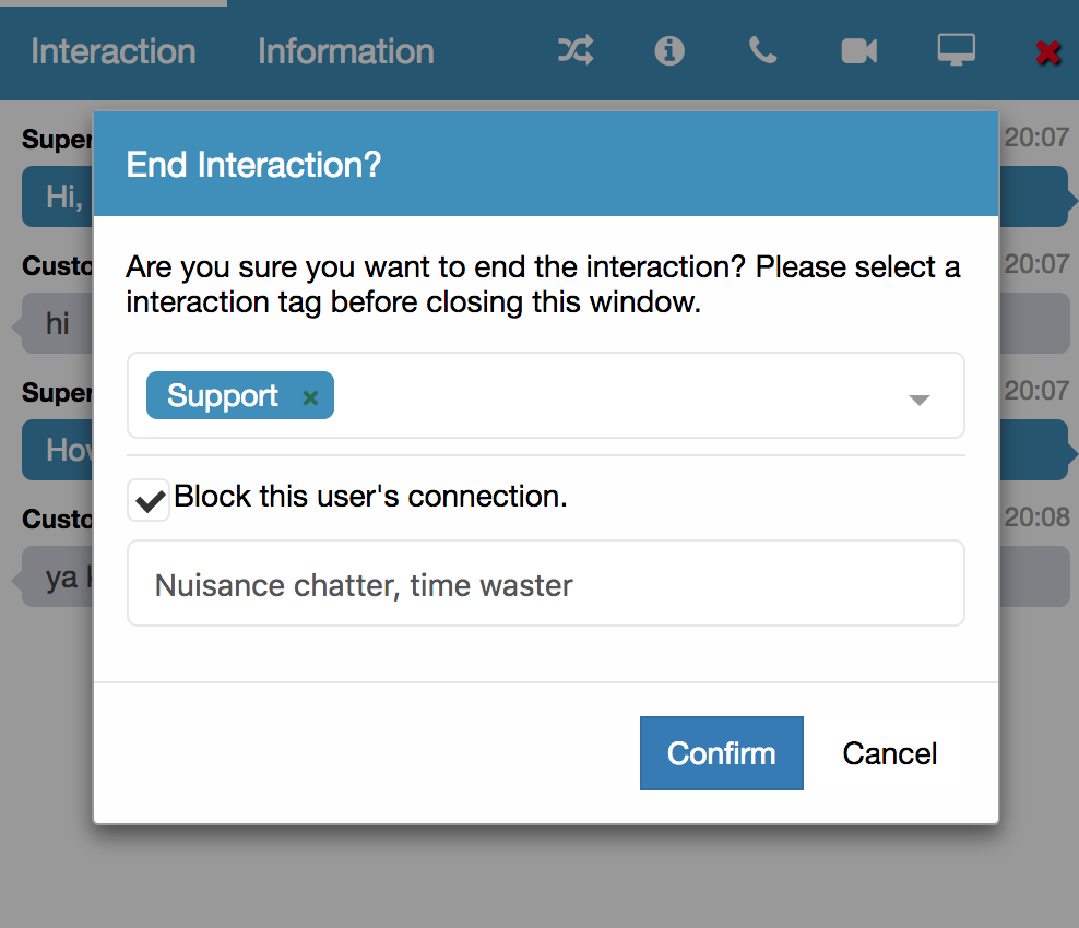 Blocking Nuisance Chatters