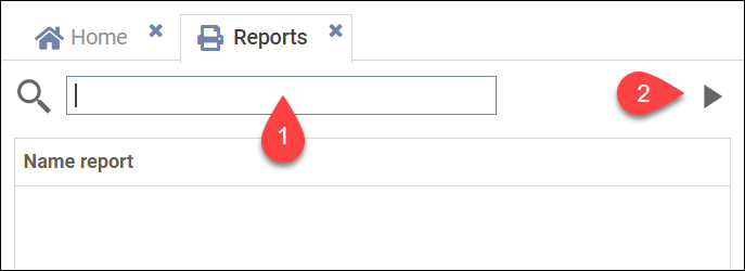 Selecting a report in the report module