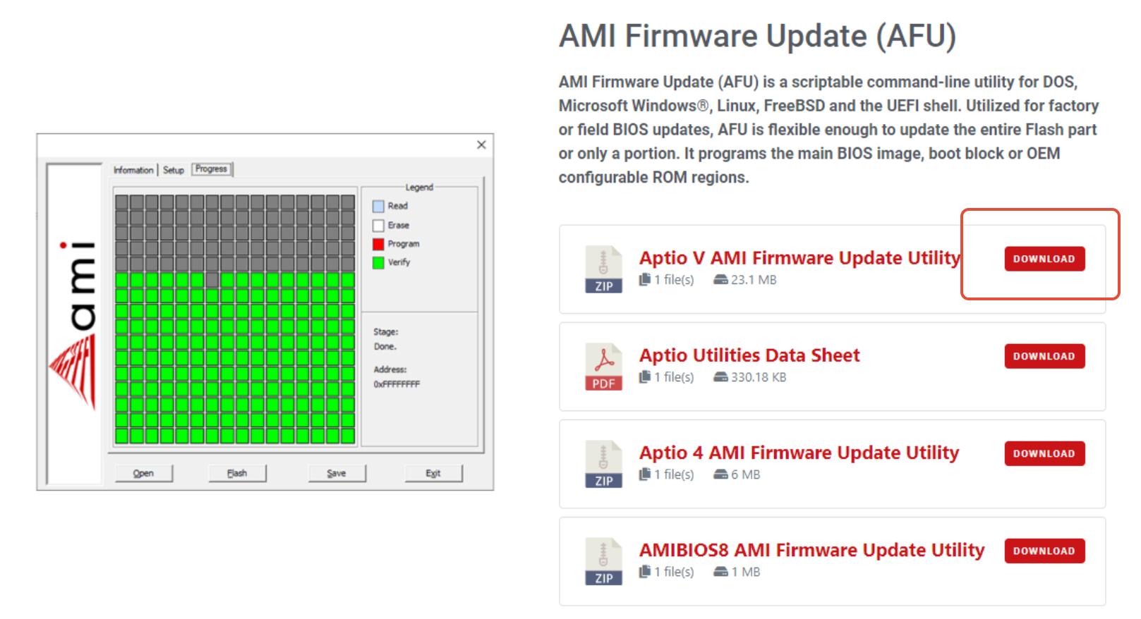 Download der AFU EFI File