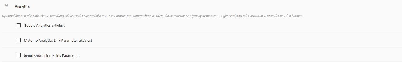 Analytics - mailings