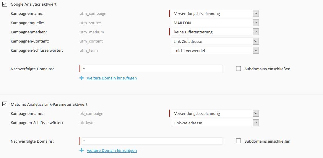 Analytics2 - mailings