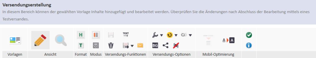 Function bar - e-mailings