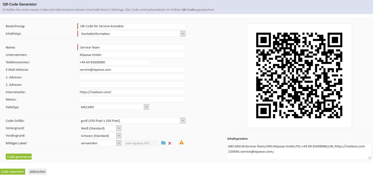 QR code - widgets