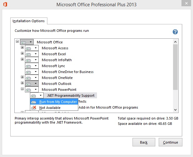 Microsoft Office enabling add-in features