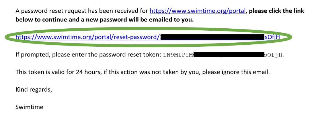 Password Reset email