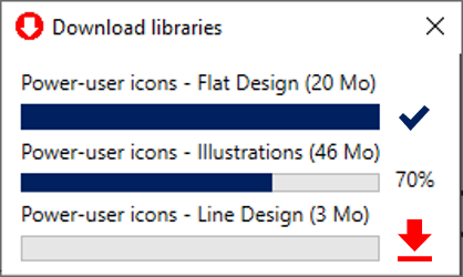 Power-user l Library downloading