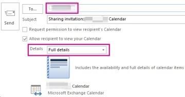 Sending a shared calendar 1