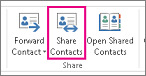 the Share Contacts tab