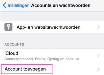 Tik op Nieuwe account