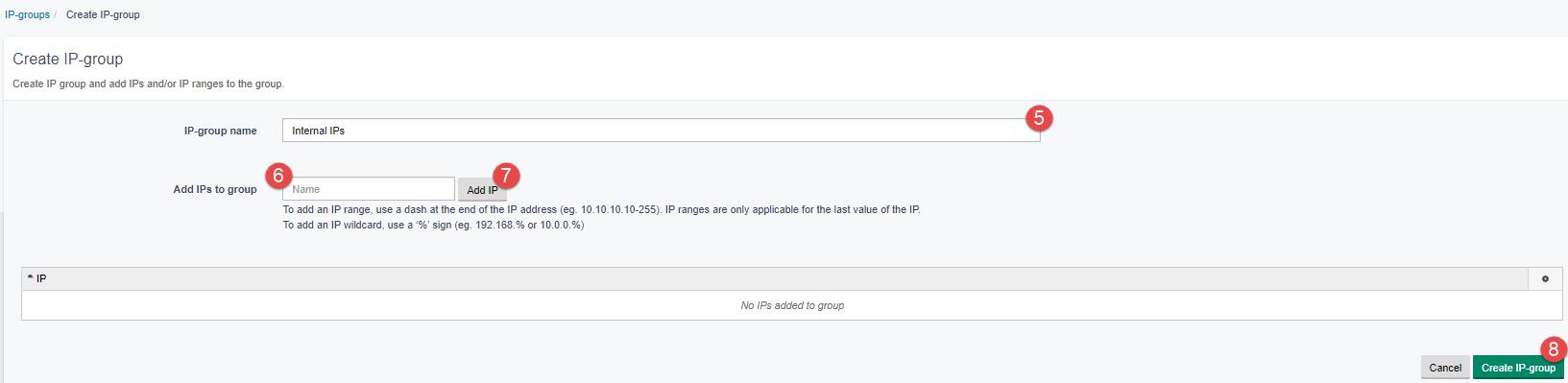 Create IP group