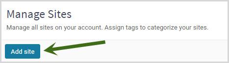 add site button