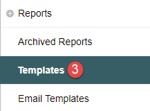 Selecting Reports Template