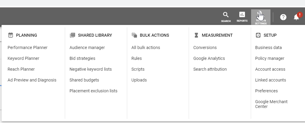 Google_main_menu_-_Tools_and_Settings_-_Set_Up_-_Account_Access