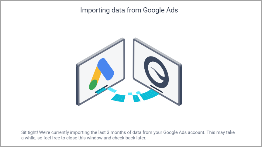 Message_screen_shown_when_data_is_being_imported_from_Google_Ads