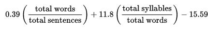 flesch_kincaid_grade_level_formula