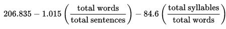 flesh_kincaid_reading_ease_formula