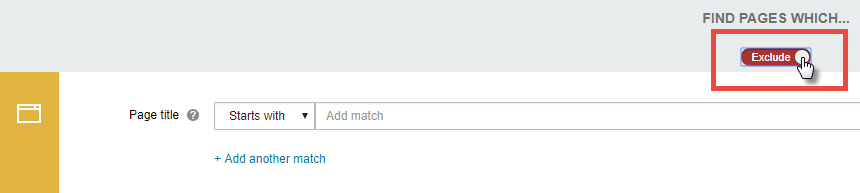 Excluding matches from a policy