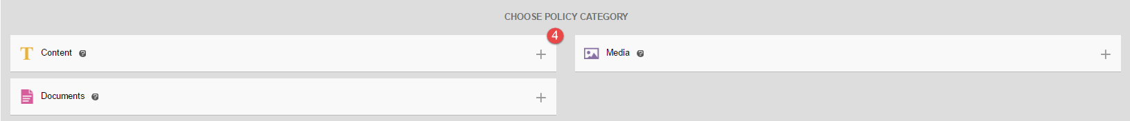 Categories of policy