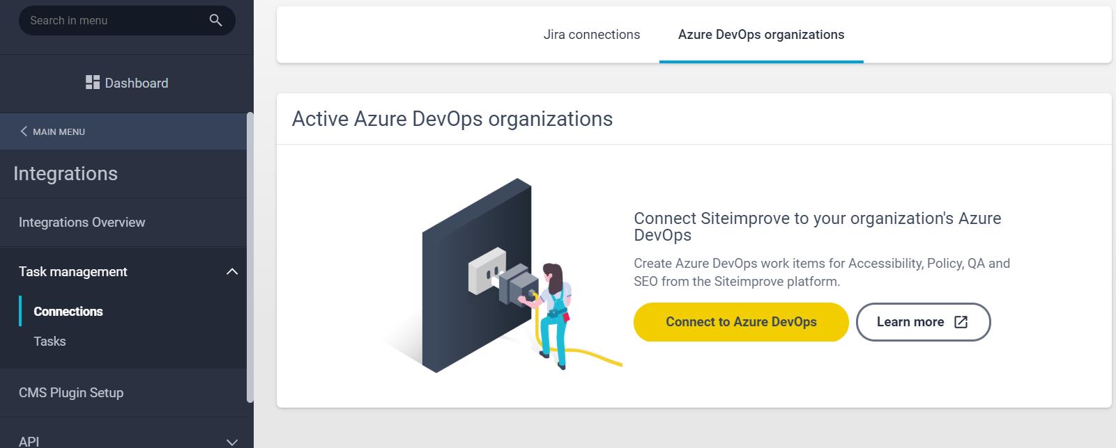 Azure_DevOps_connect_page_under_integrations