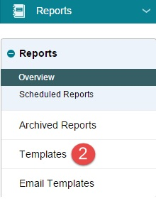 Menu, Reports, Overview, Templates