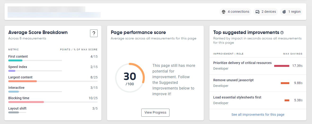 Core Web Vitals example page