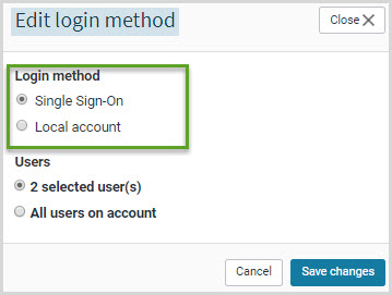 Edit login method