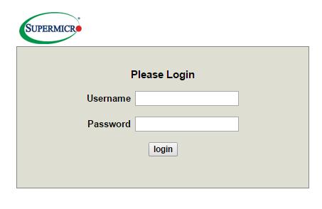 IPMI WebGUI login page