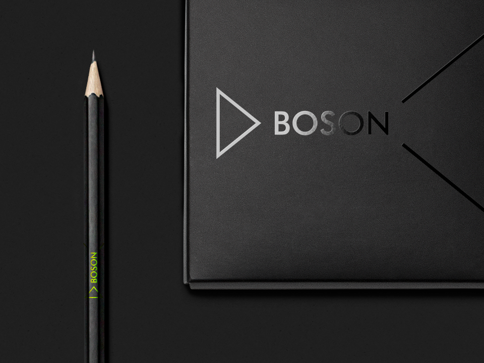 Boson logo and identity